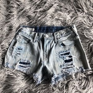 True Religion high rise boyfriend short